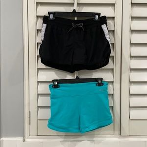 lorna jane running biker short bundle of 2 xs